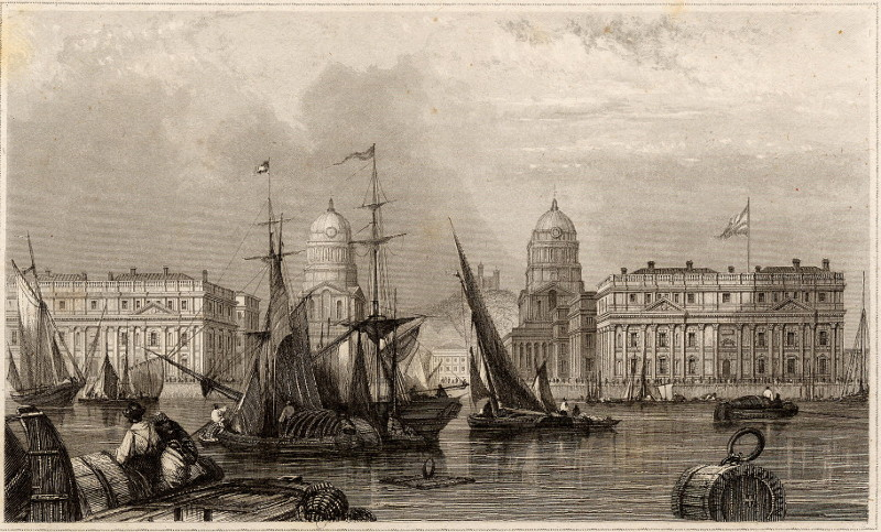 afbeelding van prent Greenwich-Hospital van Meyer (Londen, London)