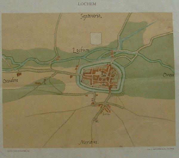 Lochum Een Antieke Plattegrond Van Lochem In Gelderland Door