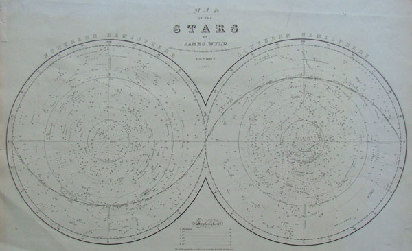 afbeelding van kaart Map of the Stars van James Wyld