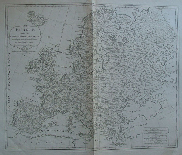 afbeelding van kaart Europe and its Empires, Kingdoms and States according to their Modern Divisions van Thomas Kitchen