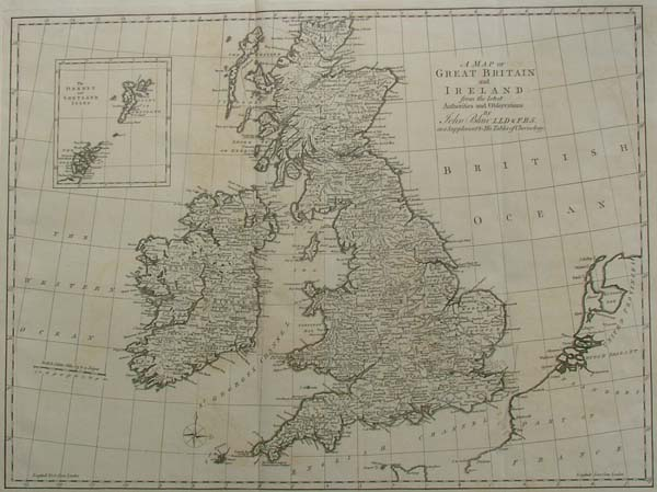 afbeelding van kaart A Map of Great britain and Ireland van John Blair
