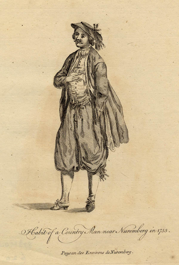 afbeelding van gravure Habit of a Country Man near Nuremberg in 1755. van John Miller