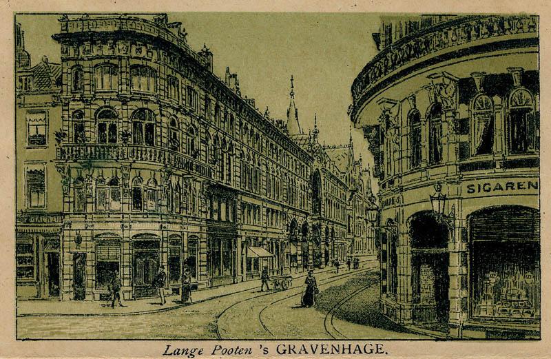 Lange Pooten  u00b4s Gravenhage, een antieke gezicht van Den Haag,  u00b4s Gravenhage, The Hague in Zuid