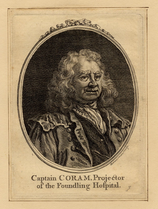 afbeelding van gravure Captain Coram, Projector of the Foundling Hospital van A. Bannerman (wetenschappers, )